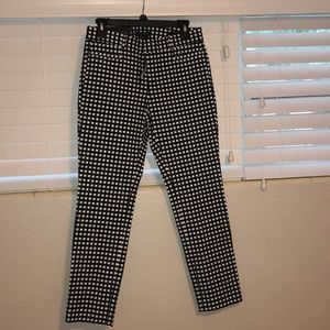 Banana Republic black and white checkered pants
